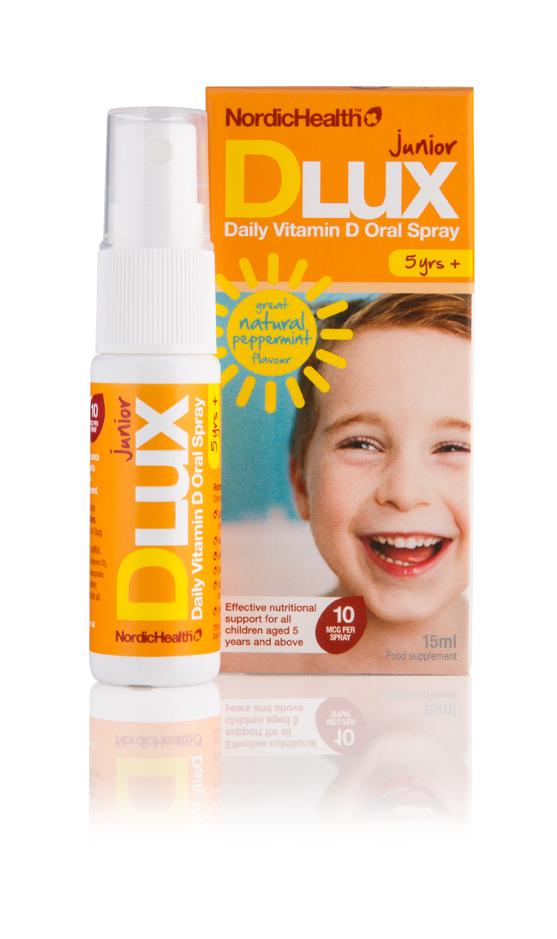 Nordic Health D3 Vitamin Spray Til Barn (Lux Junior) - 10 mcg - 15 ml