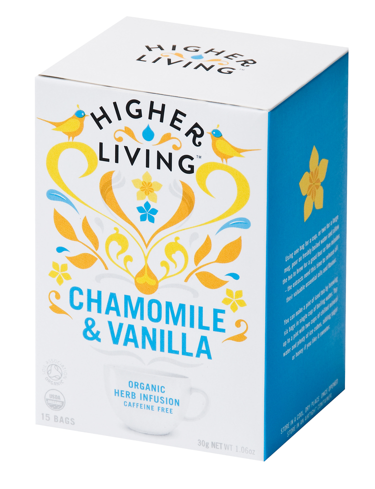 Higher Living Chamomile & Vanilla Te - 15 Pose