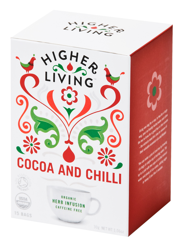 Higher Living Cocoa and Chilli Te - 15 Pose