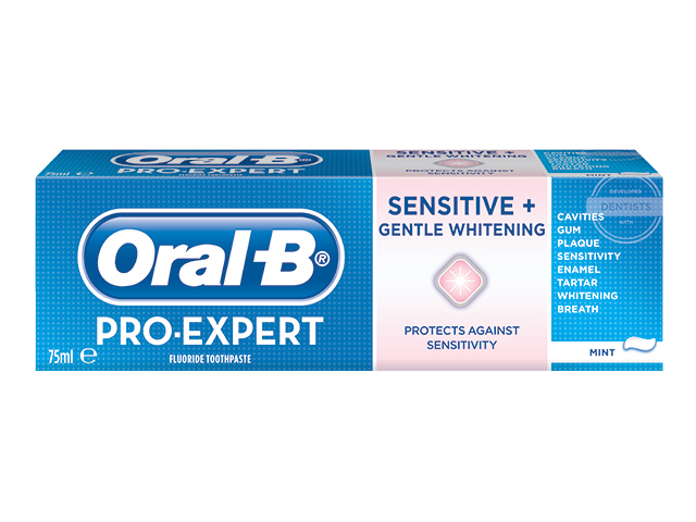 Oral-B Pro-Expert Sensitive & Gentle Whitening Toothpaste - 75 ml