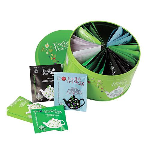 English Tea Shop Dåse te Ø White & Green Tea Collection - 1 Pake
