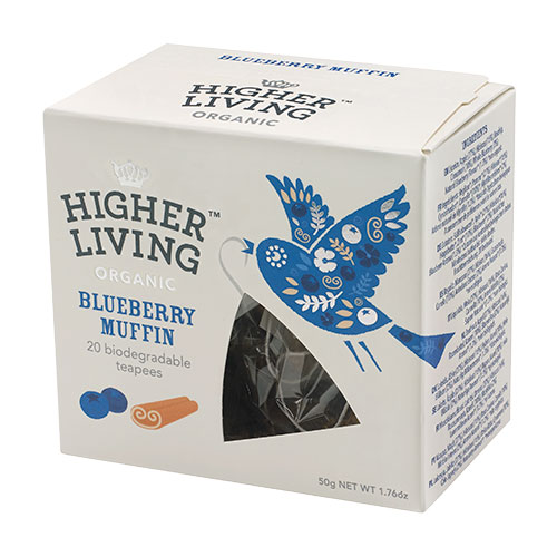 Higher Living Bluebery Muffin te - 20 Pose