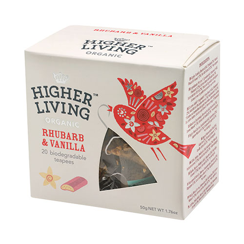 Higher Living Ruhbarb & Vanilla te - 20 Pose
