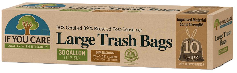 If you care Affaldsposer m. snørreluk genbrugsplast - 1 Pakker